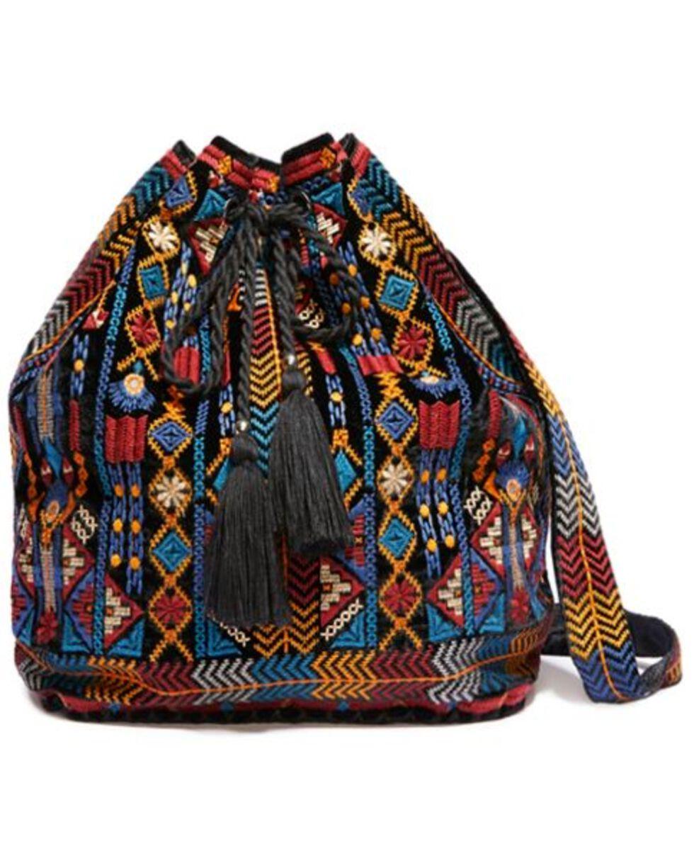 Johnny Was Women's Cleo Velvet Drawstring Backpack, , hi-res