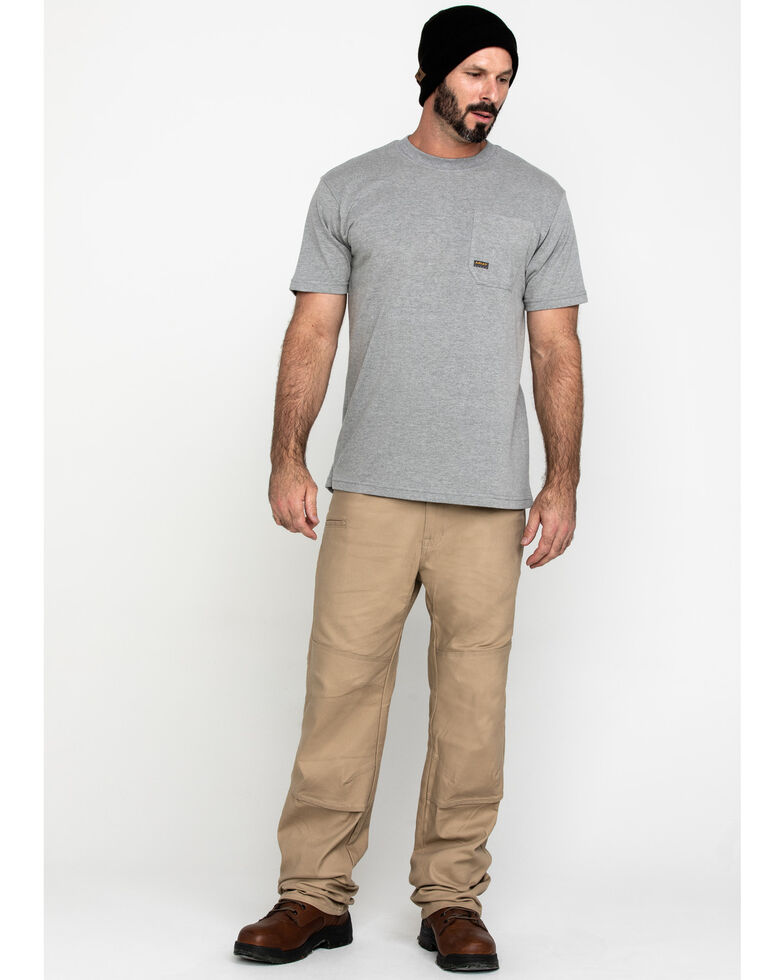 Ariat Men's Grey Rebar Cotton Strong American Grit Work T-Shirt , Heather Grey, hi-res