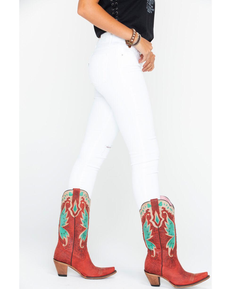 Levi's Women's White 711 Distressed Jeans - Skinny , White, hi-res