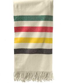 Pendleton 5th Avenue Glacier Park Merino Wool Throw Blanket, White, hi-res