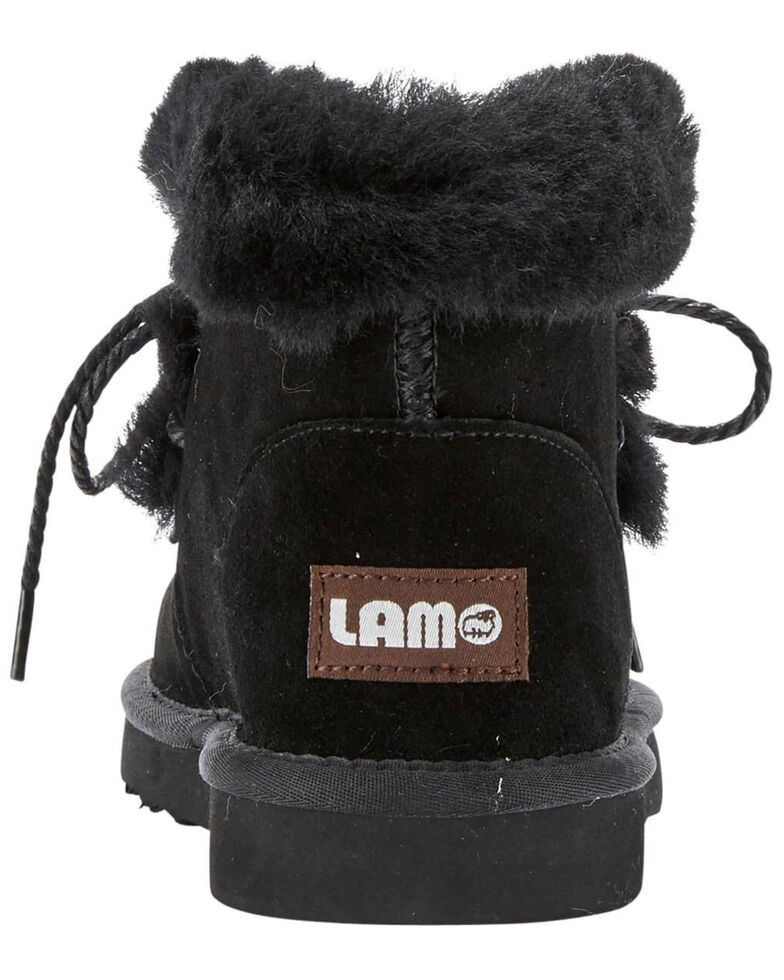 Lamo Footwear Women's Camille Winter Boots - Moc Toe, Black, hi-res