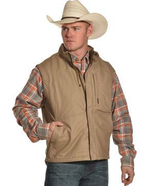 Ariat Men's FR Lined Workhorse Vest, Beige/khaki, hi-res