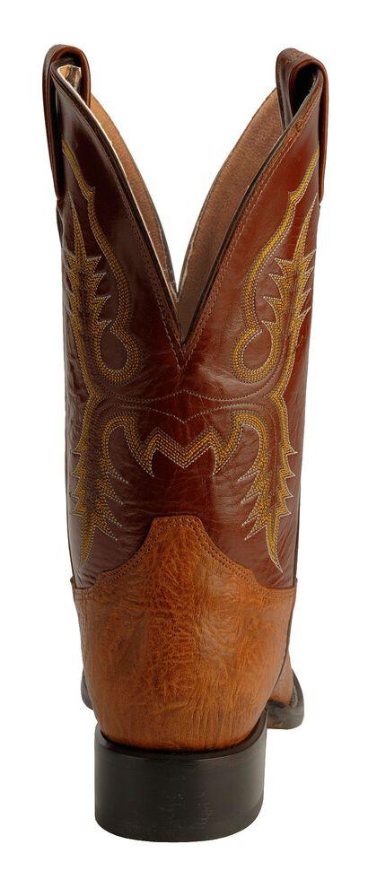 Tony Lama Men's Aztec Shoulder Cowboy Boots - Round Toe, Brit Tan, hi-res