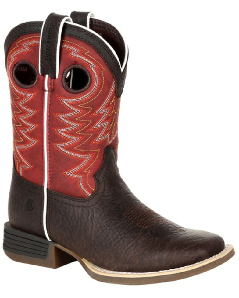 Durango Boys' Lil Rebel Pro Western Boots - Square Toe, Brown, hi-res