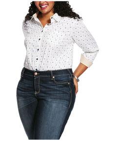 Ariat Women's Glory Kirby Stretch Long Sleeve Shirt - Plus, Ivory, hi-res