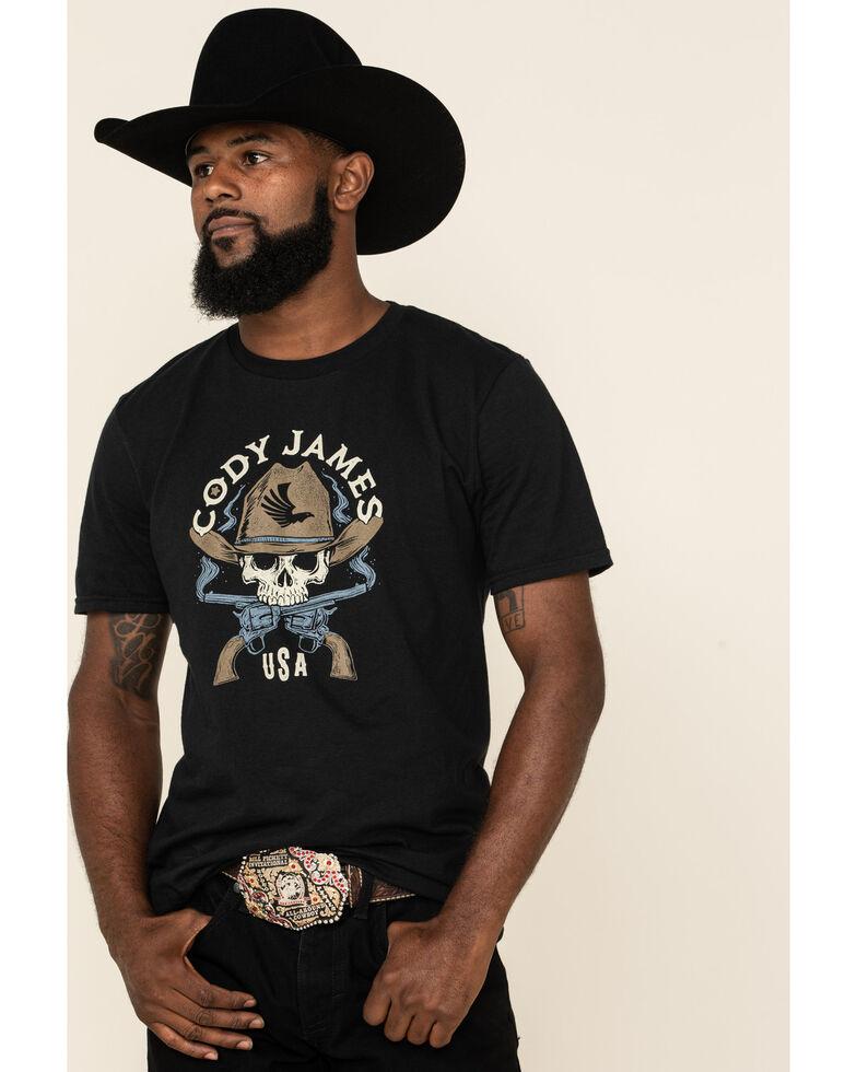 Cody James Men's Black Smoking Irons Graphic T-Shirt , Black, hi-res