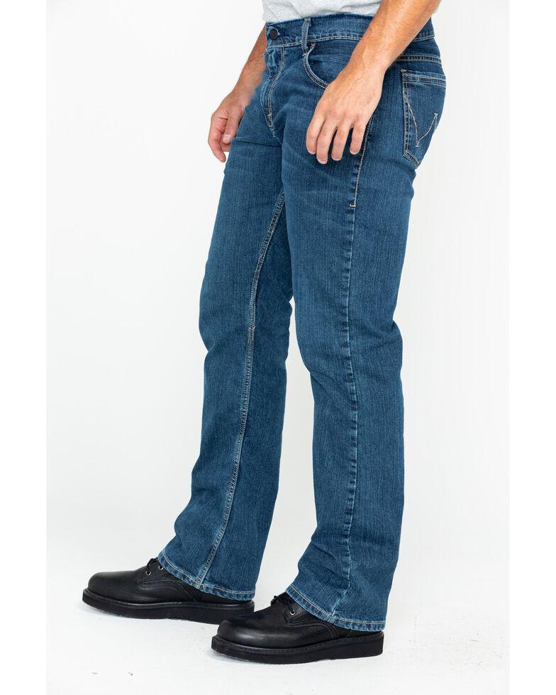 Wrangler Retro Men's FR Advanced Comfort Slim Bootcut Work Jeans , Blue, hi-res
