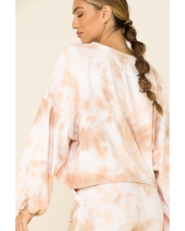 Peach Love Women's Multi Tie Dye Print Pullover Sweatshirt , Multi, hi-res