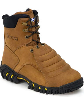 "Michelin Men's 8"" Sledge Metatarsal EH Work Boots - Steel Toe, Brown, hi-res"