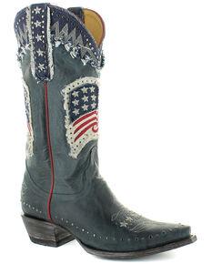 Old Gringo Women's Unity Western Boots - Snip Toe, Blue, hi-res