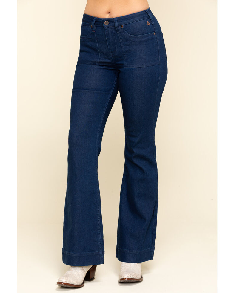 Idyllwind Women's Trouser For All Mid-Rise Trouser Bootcut Jeans , Blue, hi-res