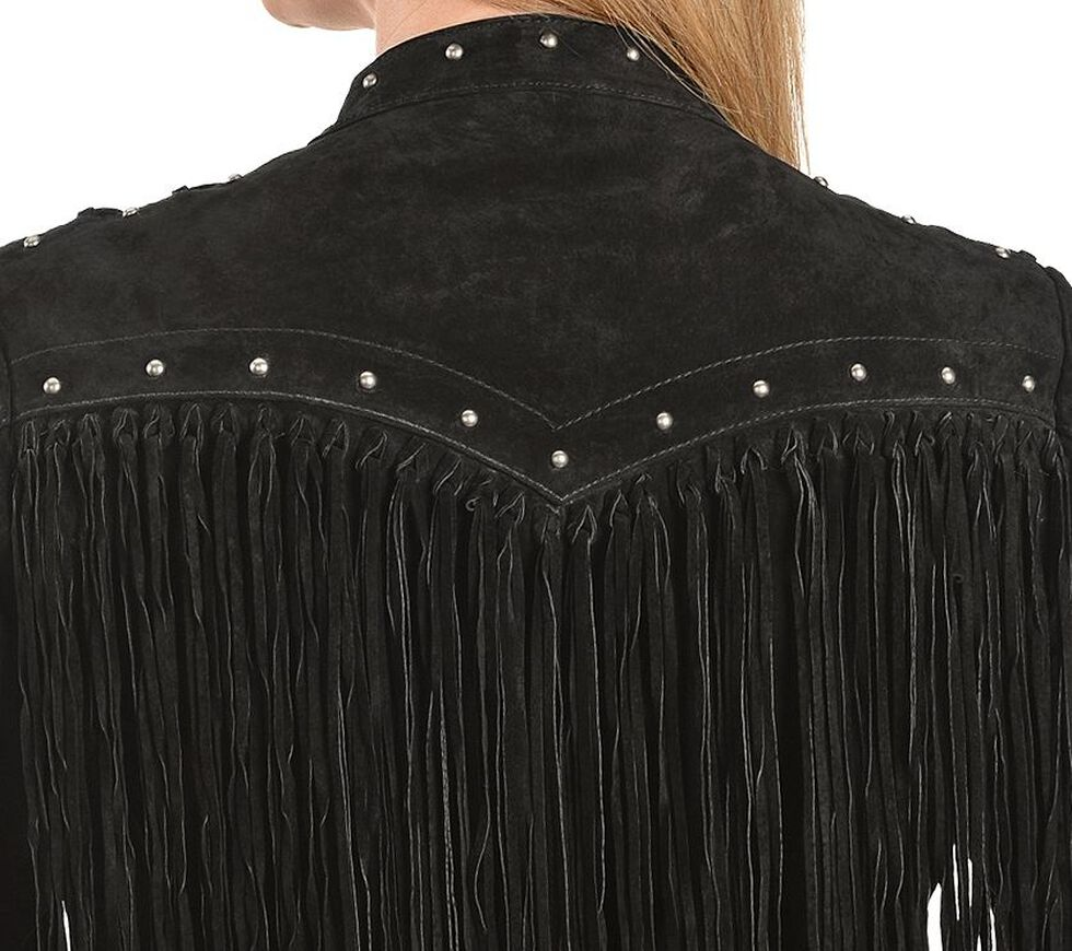 Scully Lace Up Sleeve Leather Jacket, Black, hi-res