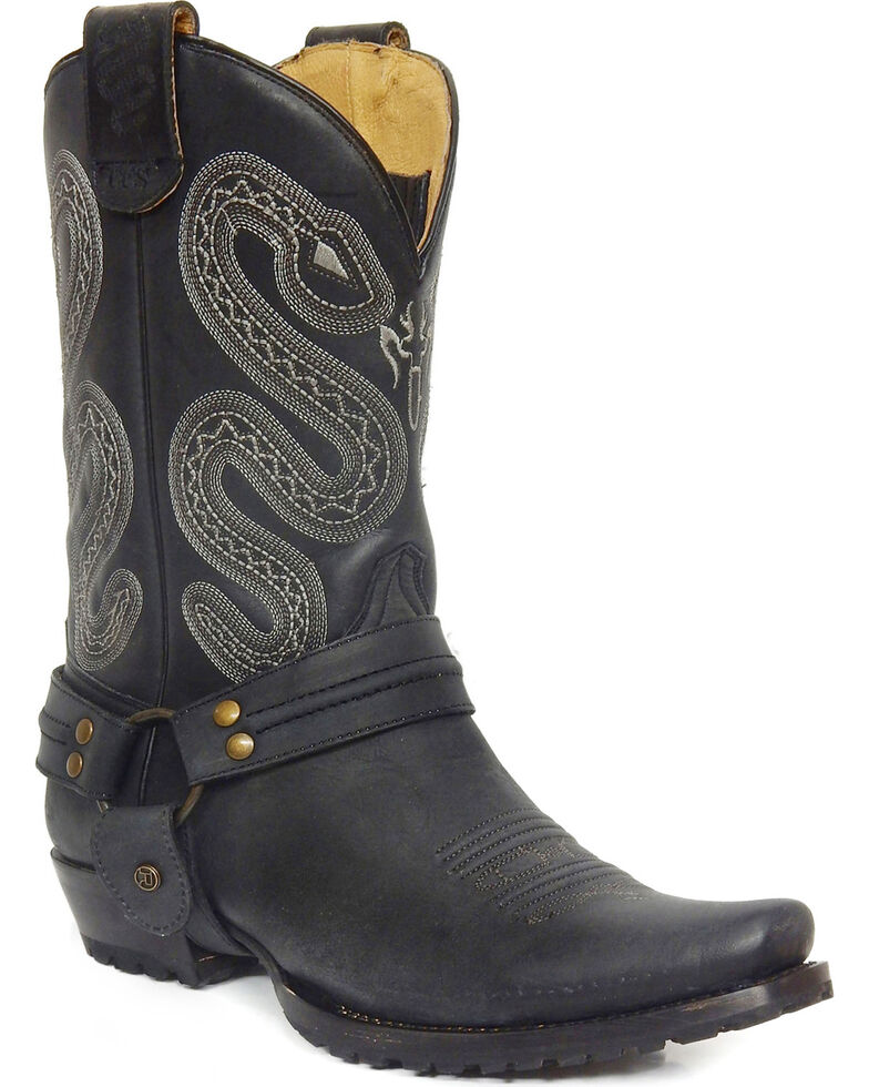 Roper Men's Sting Sidewinder Concealed Carry System Harness Boots - Snip Toe, Black, hi-res
