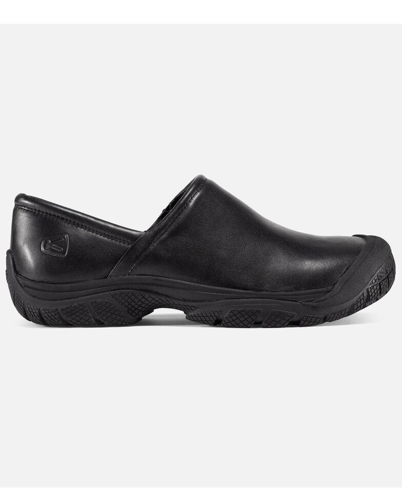 Keen Men's PTC Slip-On Work Shoes - Round Toe, Black, hi-res