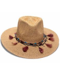 Nikki Beach Women's Toast Bo Toyo Straw Rancher Western Hat, Tan, hi-res