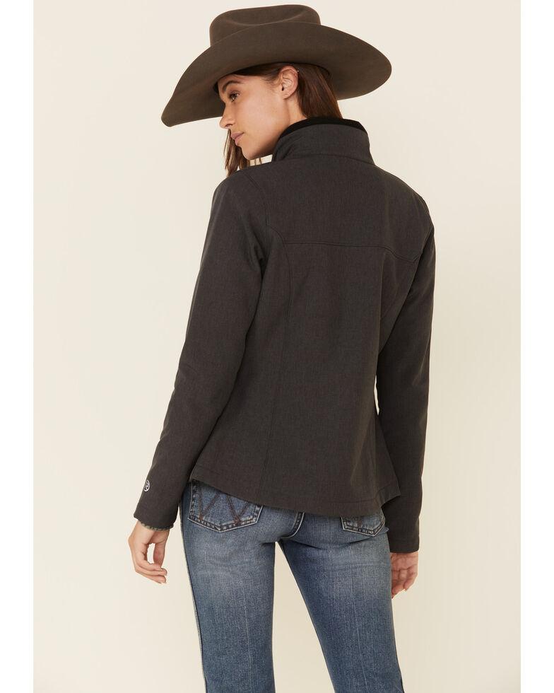 Roper Women's Grey Soft Shell Bonded Fleece Lined Jacket , Grey, hi-res