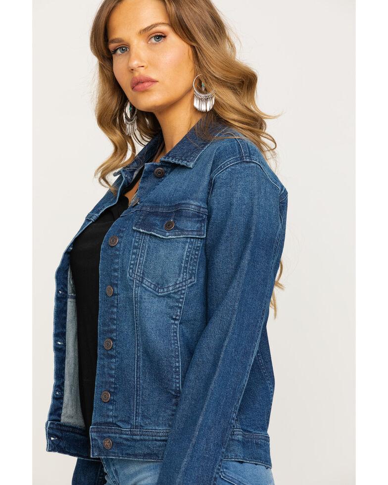 Idyllwind Women's Busy Raising Hell Denim Jacket , Blue, hi-res