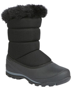 Northside Women's Ava Insulated Winter Snow Boots - Round Toe, Black, hi-res