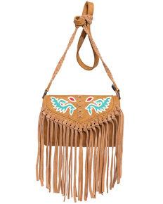 Montana West Women's Wrangler Dragon Fringe Crossbody Bag, Brown, hi-res