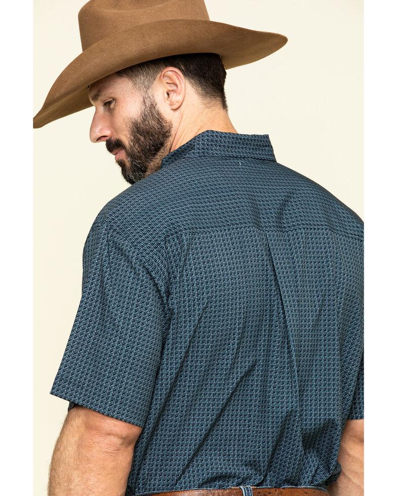 Cinch Men's Arena Flex Navy Geo Print Short Sleeve Western Shirt , Navy, hi-res
