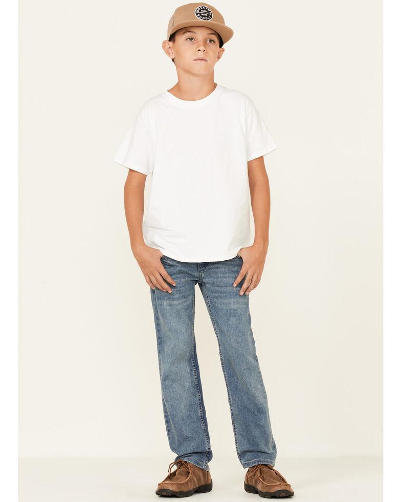 Levi's Boys' 514 Vintage Racer Wash Straight Leg Jeans , Medium Blue, hi-res