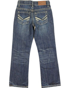 Cody James Boys' Dark Regular Bootcut Jeans , Dark Blue, hi-res
