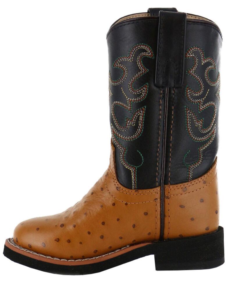 Cody James Boys' Ostrich Print Western Boots - Round Toe, Cognac, hi-res