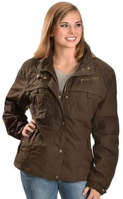 Outback Trading Co. Oilskin Zipper Jacket, Bronze, hi-res