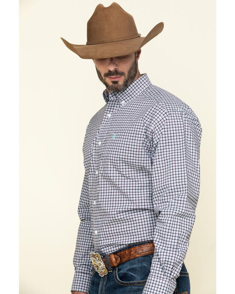 Ariat Men's Ridgefield Stretch Small Plaid Long Sleeve Western Shirt - Tall , Multi, hi-res