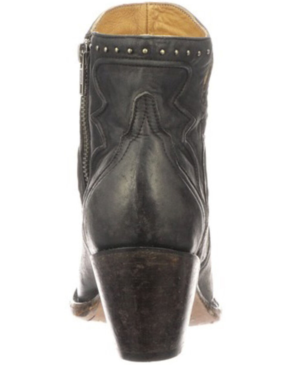 Lucchese Women's Karla Fashion Booties - Round Toe, Black, hi-res
