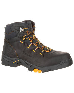 Georgia Boot Men's Amplitude Waterproof Work Boots - Round Toe, Black, hi-res