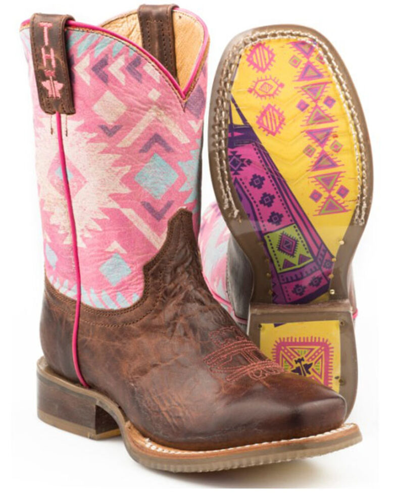 Tin Haul Girls' Moon Western Boots - Wide Square Toe, , hi-res