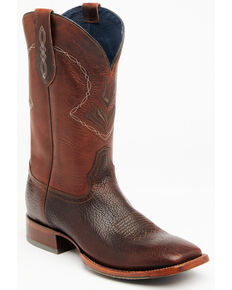 Cody James Men's Cognac Honey Western Boots - Wide Square Toe, Cognac, hi-res