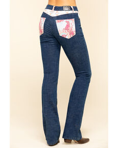 Ranch Dress'n Women's Home on The Range Bootcut Jeans , Blue, hi-res