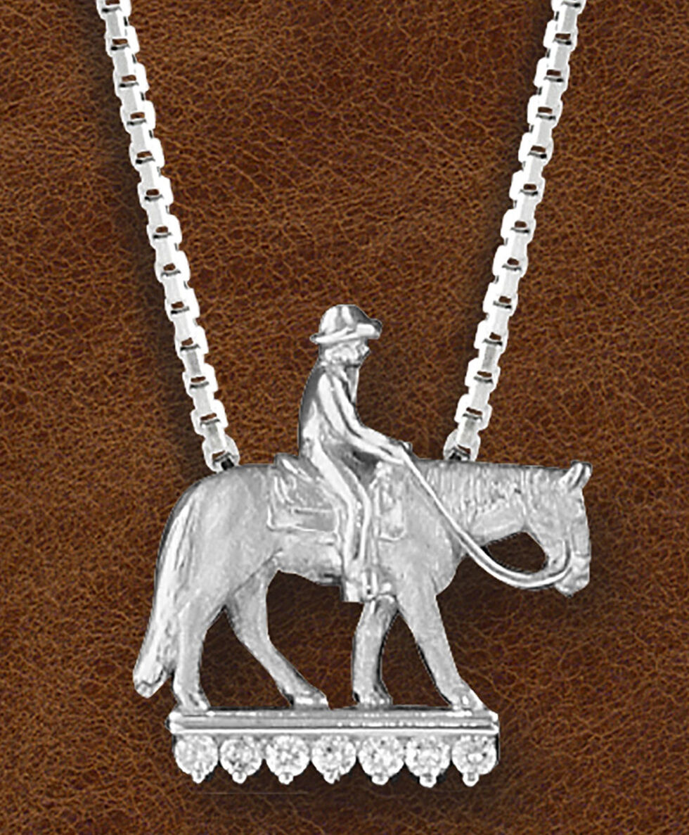 Kelly Herd Women's Sterling Silver Western Pleasure Horse Necklace, Silver, hi-res