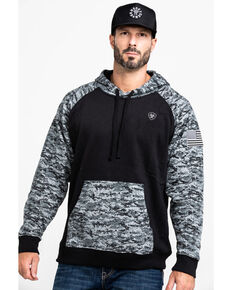 Ariat Men's Black Patriot Hoodie, Black, hi-res