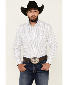 Ely Walker Men's Assorted Diamond Geo Print Long Sleeve Snap Western Shirt - Tall , Multi, hi-res