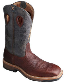 Twisted X Men's Brown Western Work Boots - Soft Toe, Multi, hi-res