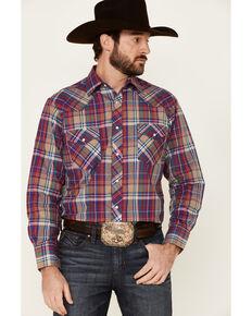 Roper Men's Classic Multi Large Plaid Long Sleeve Snap Western Shirt , Black, hi-res