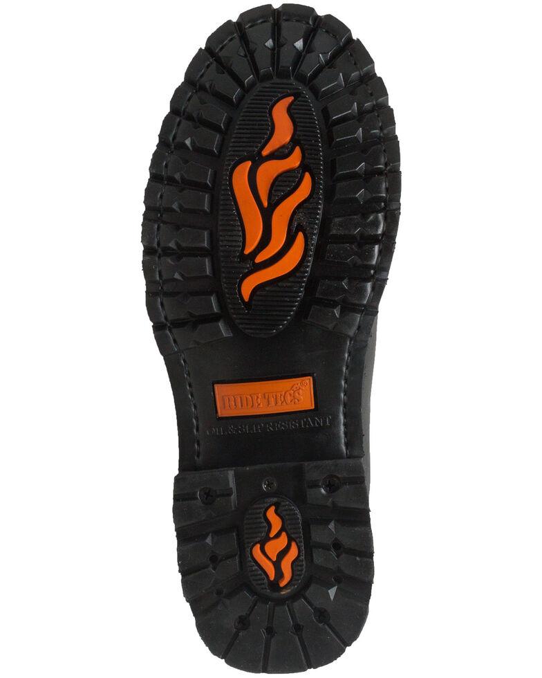 Ad Tec Men's Double Zipper Biker Boots - Soft Toe, Black, hi-res