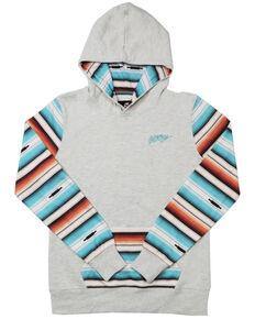 HOOey Girls' Mojave Serape Hoodie Sweatshirt, Cream, hi-res