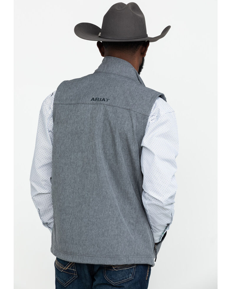 Ariat Men's Vernon 2.0 Softshell Vest , Grey, hi-res