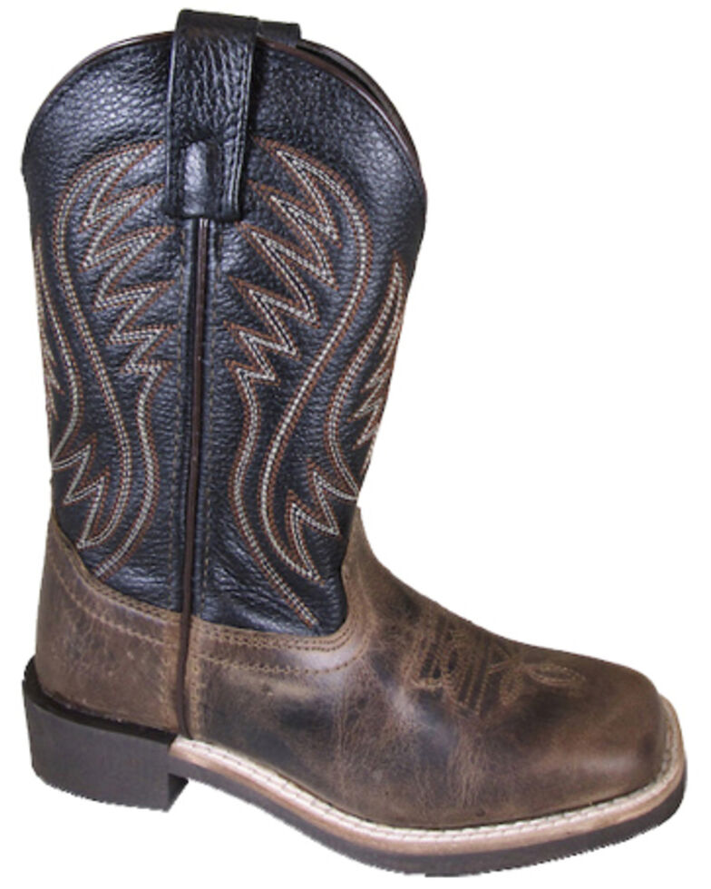 Smoky Mountain Boys' Travis Western Boots - Square Toe, Brown, hi-res
