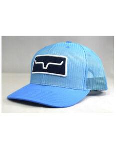 Kimes Ranch Men's Carolina Blue AO Horns Logo Mesh Ball Cap , Light Blue, hi-res