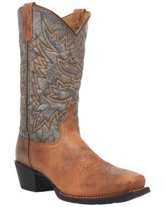 Laredo Men's Alfred Western Boots - Wide Square Toe, Tan, hi-res