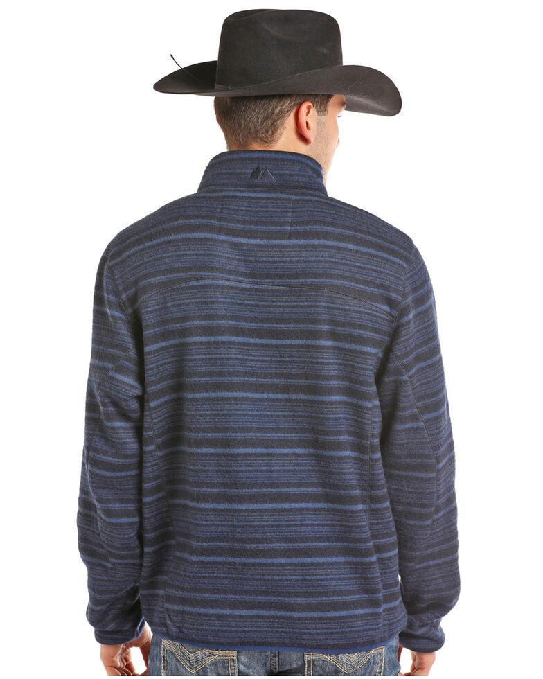 Powder River Outfitters Men's Quarter Zip Horizontal Ombre Pullover, Blue, hi-res