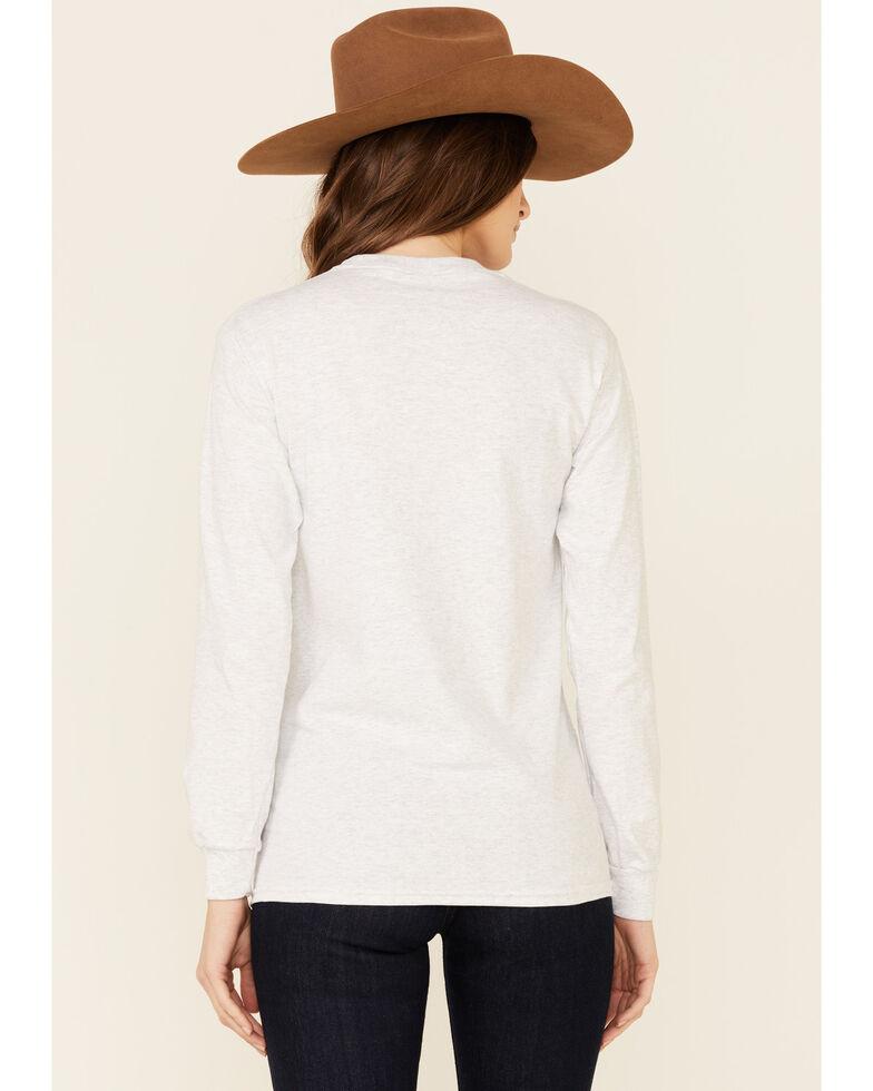Bohemian Cowgirl Women's Grey My Playlist Graphic Long Sleeve T-Shirt, Heather Grey, hi-res