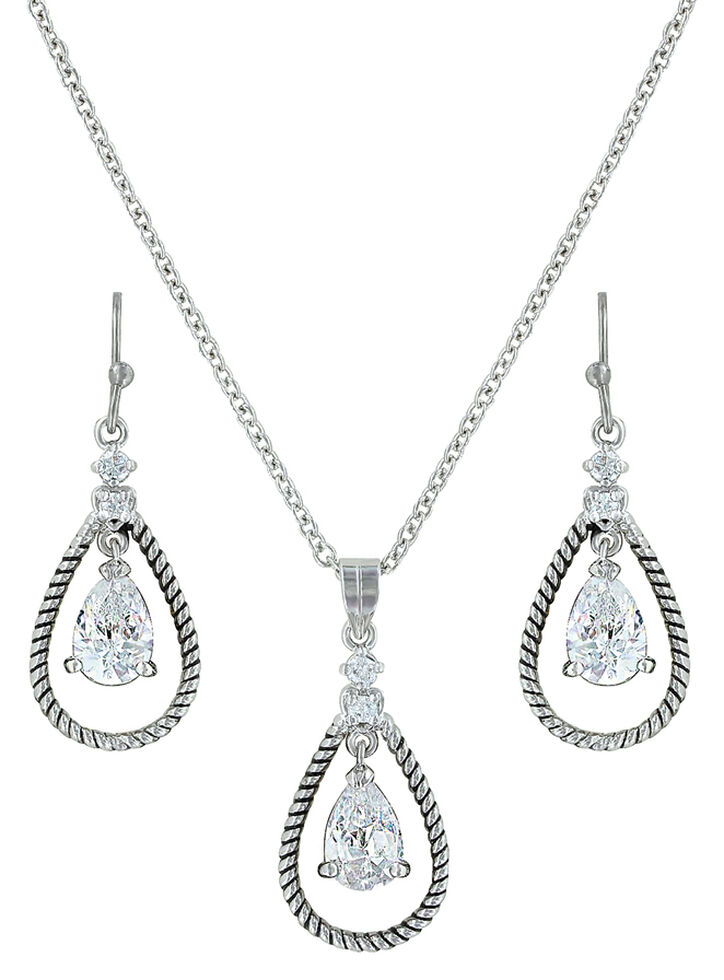 Montana Silversmiths Catch the Rain Jewelry Set , Silver, hi-res