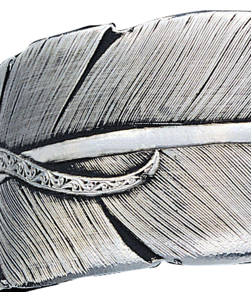 Montana Silversmiths Feather Bracelet, Silver, hi-res