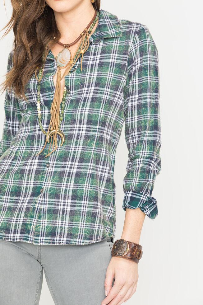 White Crow Zelda Plaid Shirt, Olive, hi-res